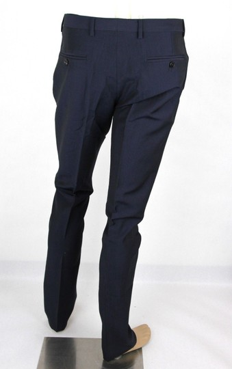 Gucci Navy Plain Weave Wool/Mohair Formal Pant It 58r / Us 42 335318 4379 Groomsman Gift Image 3