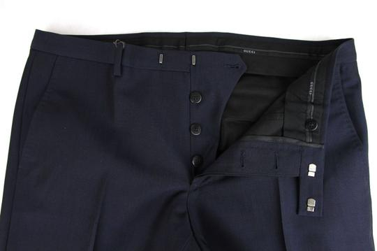 Gucci Navy Plain Weave Wool/Mohair Formal Pant It 58r / Us 42 335318 4379 Groomsman Gift Image 4