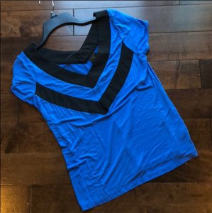 Worthington Top blue and black