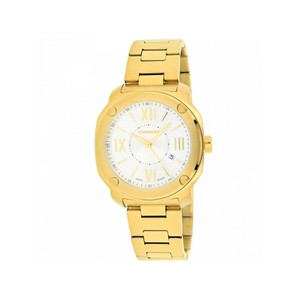 Wenger 01.1141.122 Men's Gold Steel Bracelet With White Analog Dial Watch