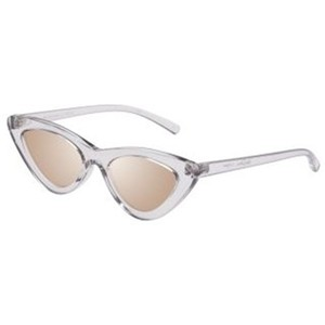 Le Specs last lolita in crystal grey and brass mirror