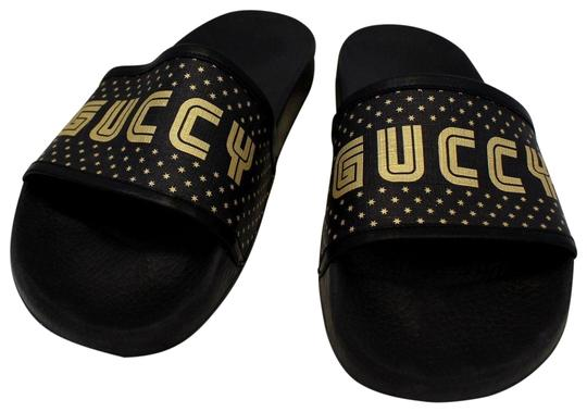 Preload https://img-static.tradesy.com/item/24147300/gucci-black-supreme-canvas-slide-sandal-519982-sneakers-size-us-11-narrow-aa-n-0-1-540-540.jpg