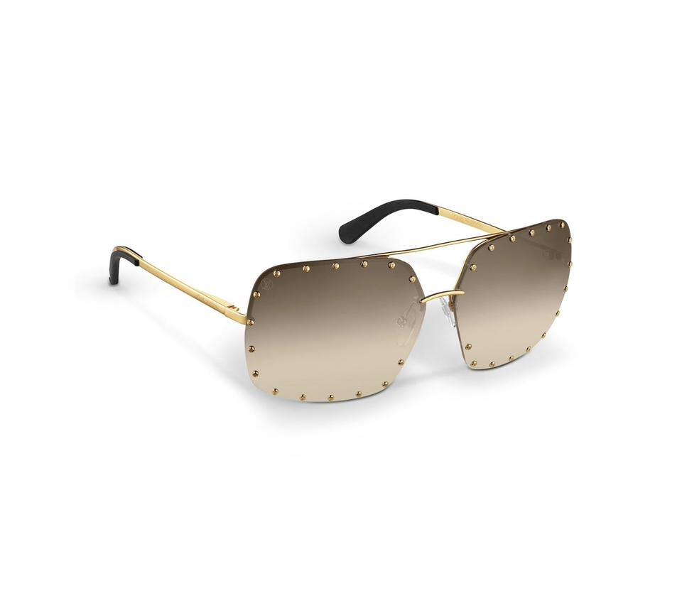 729f4f489ce Louis Vuitton Brown Lenses  Gold Frame The Party Square ( Z2353w ...