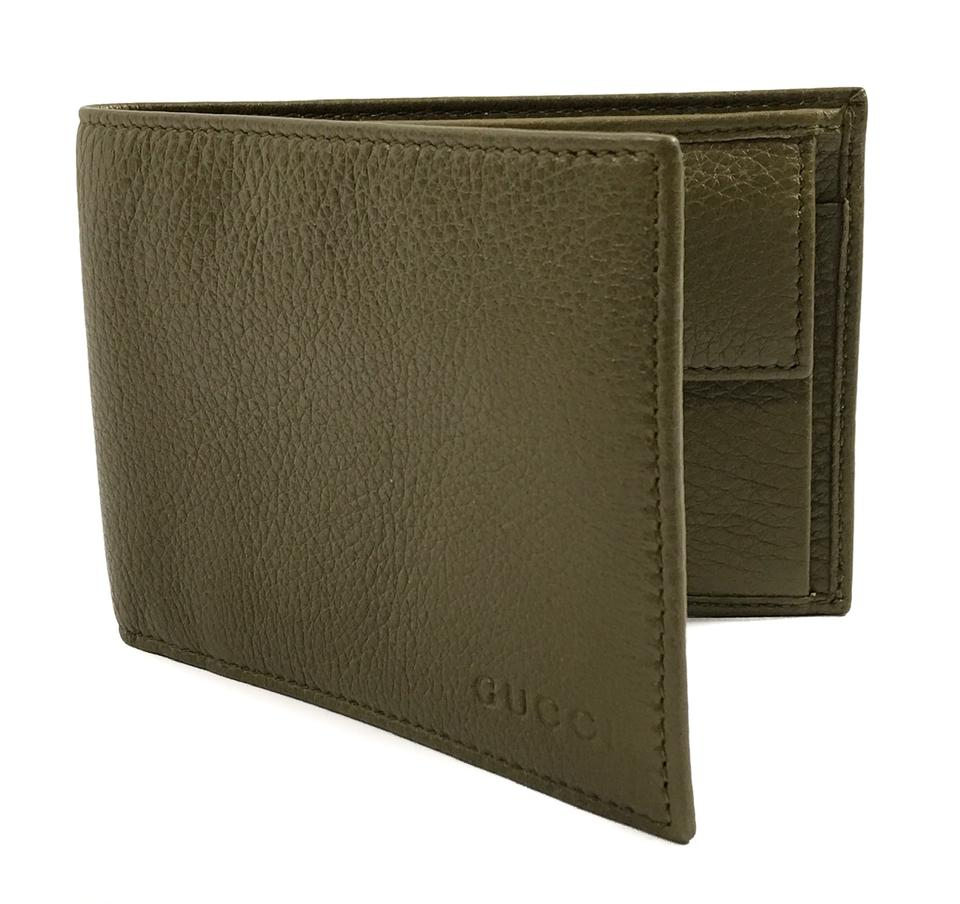 95dd76ed8375 Gucci Green 292534 Men's Leather Bifold Light Olive Wallet - Tradesy