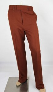 Gucci Dark Brown Orange 70s Twill Stretch Formal Pant 46r/Us 30 398954 2189 Groomsman Gift