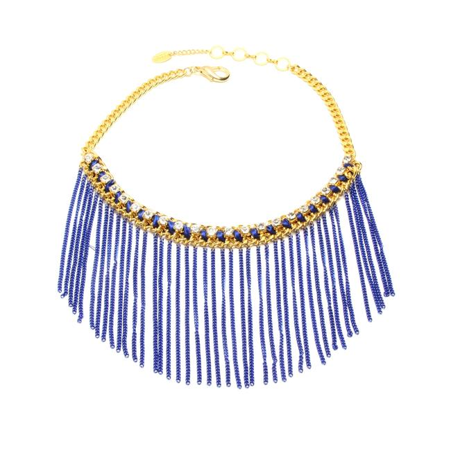 Item - Gold Lapis Blowout New Chains On Necklace