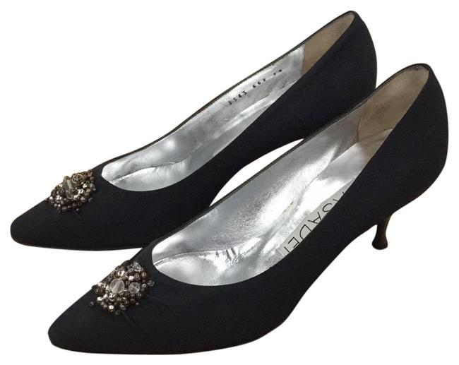 Casadei Black Evening Formal Shoes Size EU 38 (Approx. US 8) Regular (M, B) Casadei Black Evening Formal Shoes Size EU 38 (Approx. US 8) Regular (M, B) Image 1
