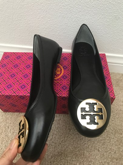 bc7752b50 Tory Burch Black 10m Reva Mestico Leather Ballet Flats Size US 10 ...