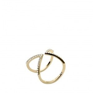 Michael Kors SIZE 7 NWT Collection Open Arrow Ring Gold MKJ37497107 - item med img