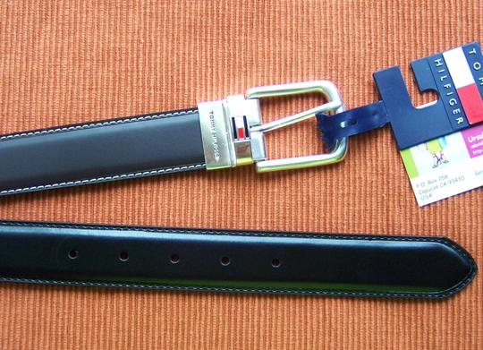 Tommy Hilfiger Tommy HILFIGER Black/ Brown Men's Reversible Belt (42)