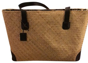 Other Tan with black & cream interior Beach Bag