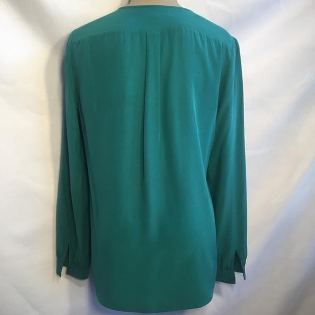Lafayette 148 New York Top Teal Blue
