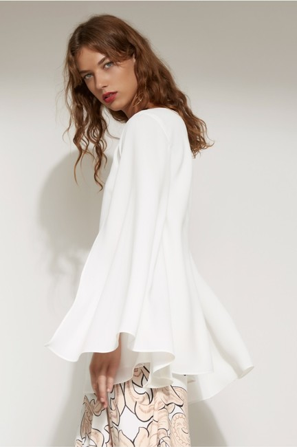 C/meo Collective Longsleeve Flowy Top White