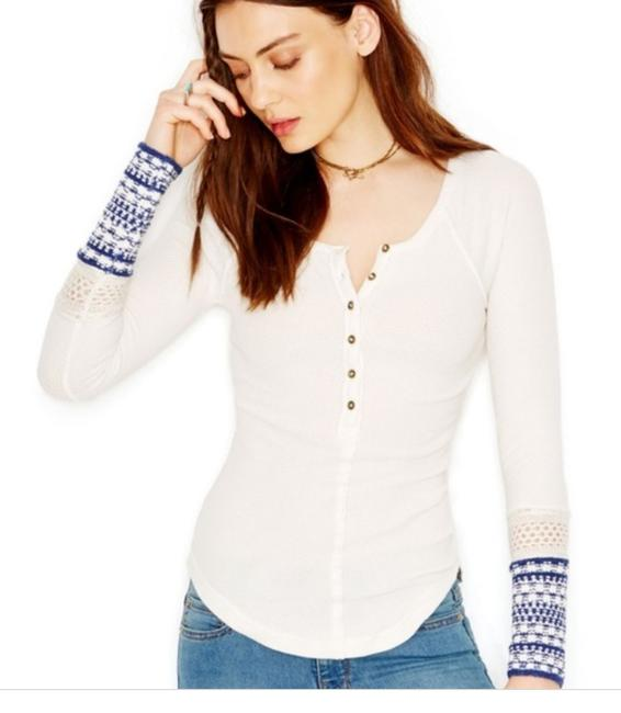 Free People Crochet Cuff Thermal Alpine Sweater
