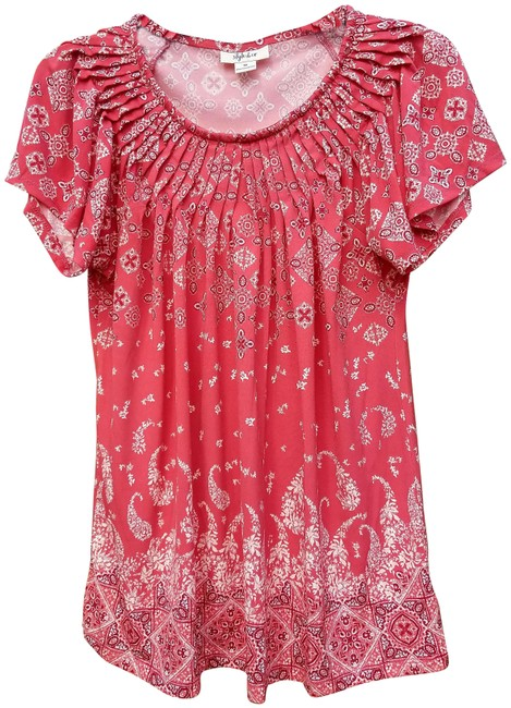 Preload https://img-static.tradesy.com/item/24147721/style-and-co-red-blouse-size-8-m-0-1-650-650.jpg