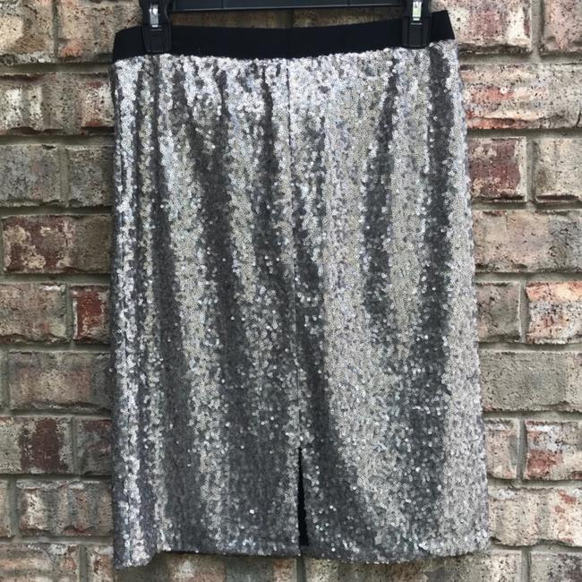 Maurices Skirt silver black