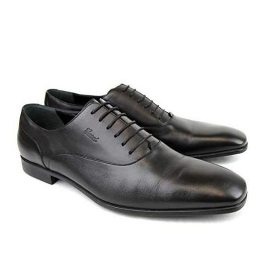 Gucci Men's Leather Oxford Dress Brown Flats