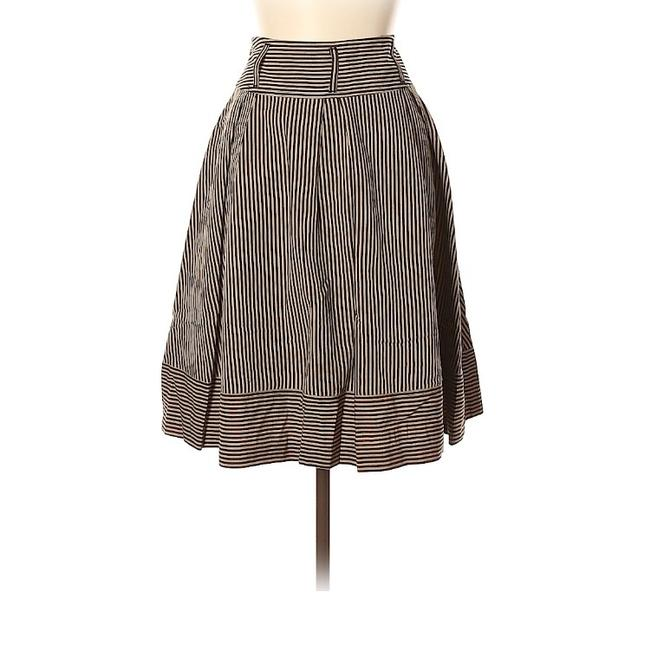 Kenneth Cole Reaction Skirt Brown/Black Striped