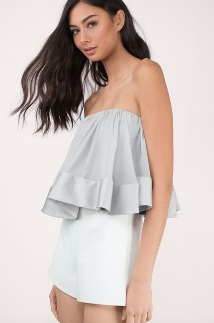 Keepsake the Label Strapless Top Silver