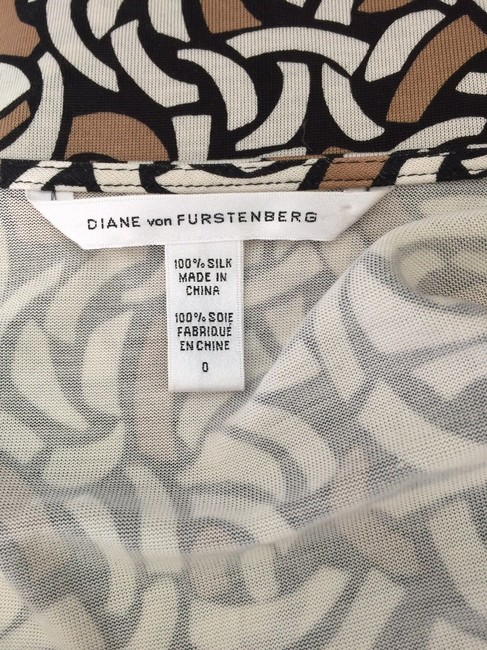 Diane von Furstenberg short dress brown Dvf Silk Wrap on Tradesy