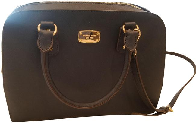 Michael Kors Zipper Purse Navy Blue Leather Satchel Michael Kors Zipper Purse Navy Blue Leather Satchel Image 1