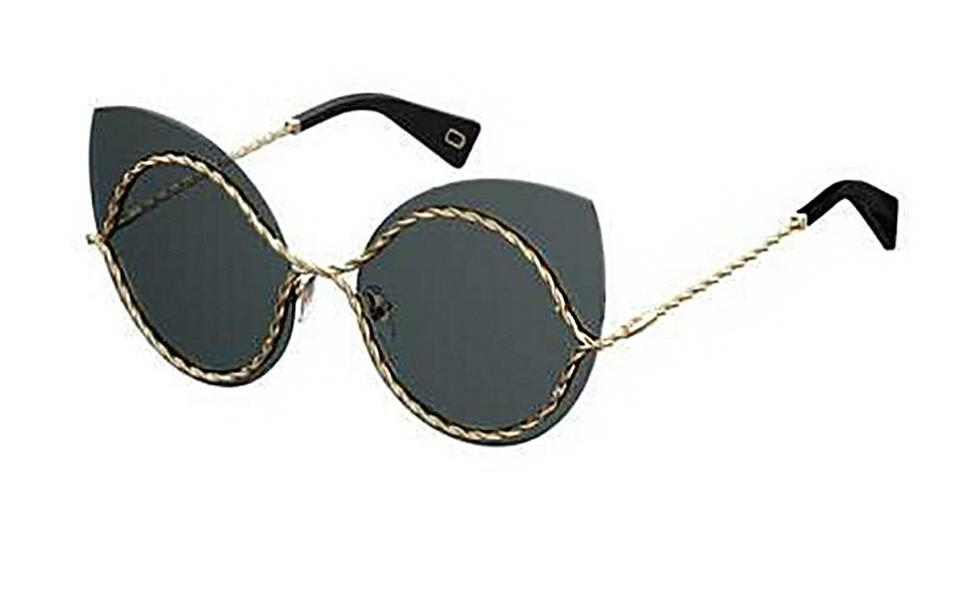 1974f0db3790 Marc Jacobs Gold/Black Twist Metal Cat-eye Sunglasses - Tradesy
