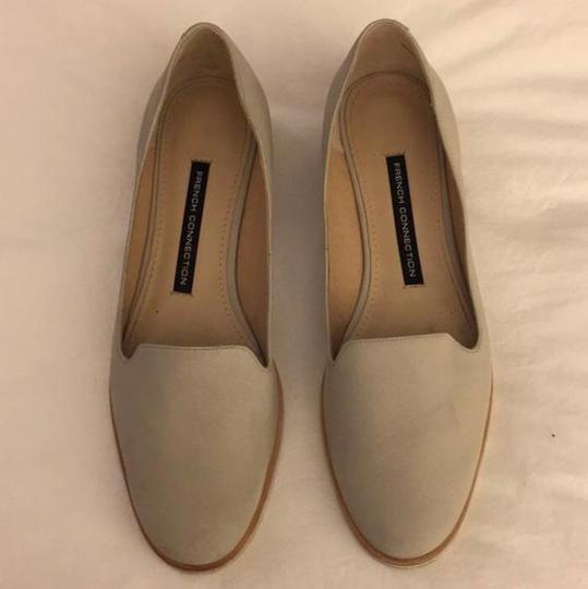 French Connection, Soft Suede Flats. Gray Flats