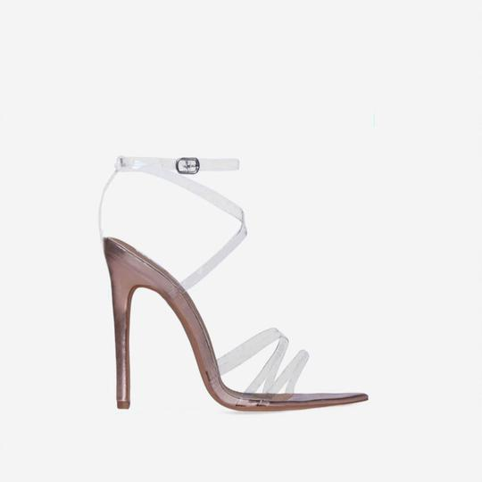 Ego Zara Clear Missguided Perspex/Rose Gold Sandals