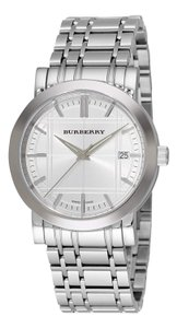 Burberry New Burberry Silver Heritage Dial Stainless Steel Men's Watch Bu1350