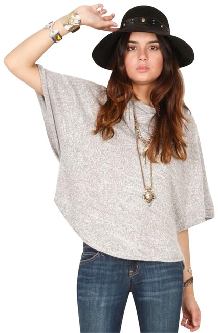 Preload https://img-static.tradesy.com/item/24147969/joie-gray-celia-cowl-neck-marble-heather-sweater-ponchocape-size-12-l-0-1-650-650.jpg