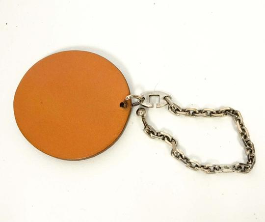 Hermès Auth HERMS Leather 925 Silver Key Strap Bag Charm Orange Fruit Charm