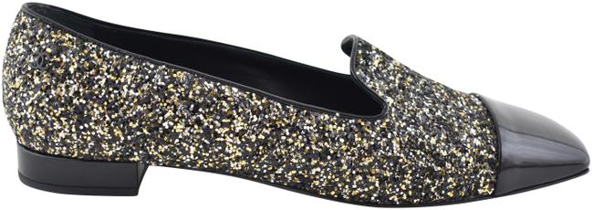 Chanel Black 17k Milky Way Glitter Patent Cc Mule Moccasin Loafer Flats Size EU 42 (Approx. US 12) Regular (M, B) Chanel Black 17k Milky Way Glitter Patent Cc Mule Moccasin Loafer Flats Size EU 42 (Approx. US 12) Regular (M, B) Image 1