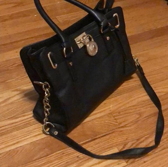 MICHAEL Michael Kors Satchel in Black with Gold Accent