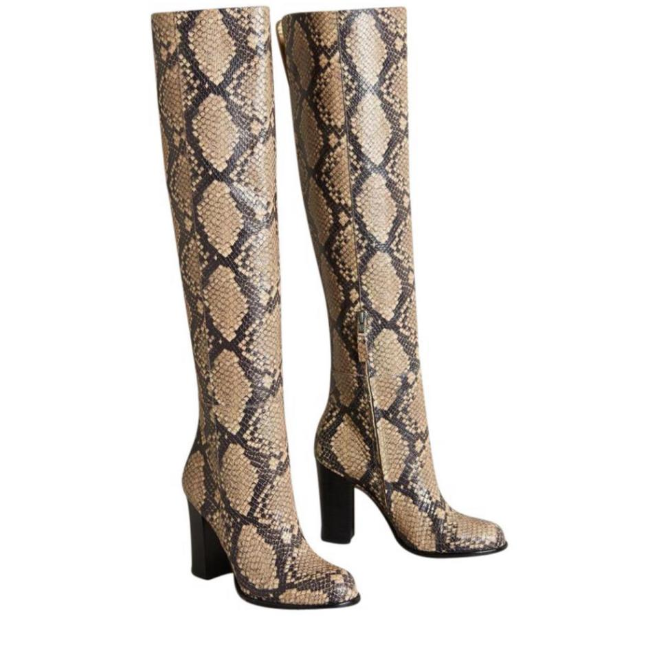 9971141a3666 Sam Edelman Snake Skin Print Rylan Embossed Leather Over The Knee Boots Booties  Boots Booties