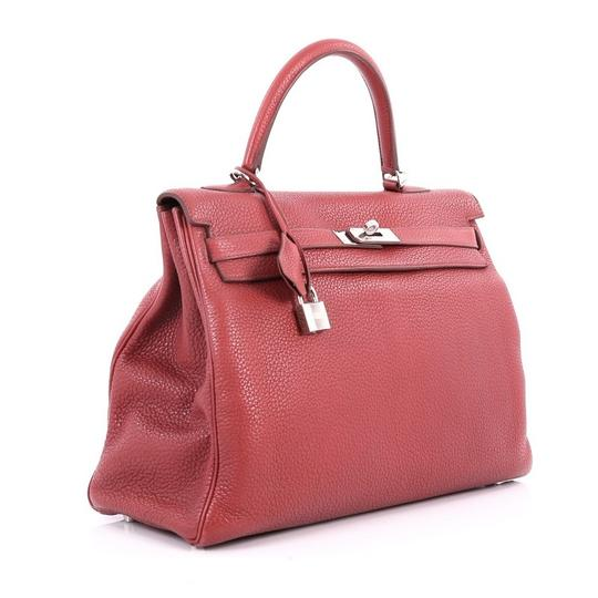 Hermès Leather Tote in Rouge