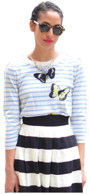Preload https://img-static.tradesy.com/item/24148127/jcrew-merino-wool-stripe-monarch-butterflies-yellow-sweater-0-1-650-650.jpg