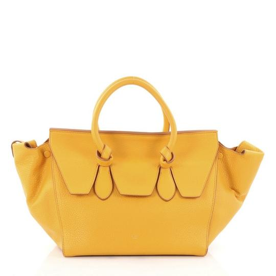Preload https://img-static.tradesy.com/item/24148143/celine-tie-knot-grainy-small-yellow-leather-tote-0-0-540-540.jpg