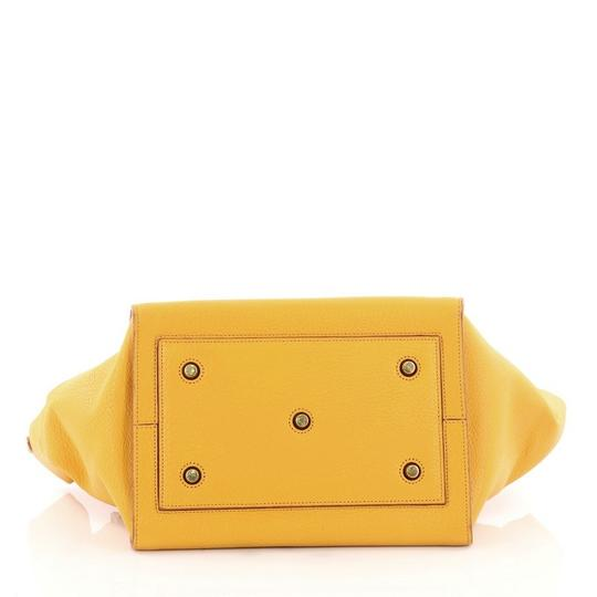 Céline Leather Tote in Yellow