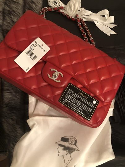 Chanel Classic Flap Jumbo Lambskin Leather Shoulder Bag