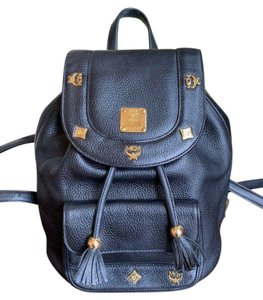 MCM Leather Tassels Studded Backpack
