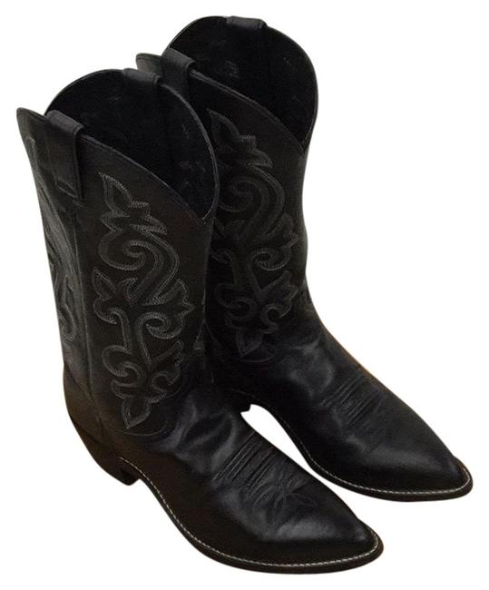 Justin Boots Black Boots/Booties Size US 13.5 Wide (C, D) Justin Boots Black Boots/Booties Size US 13.5 Wide (C, D) Image 1