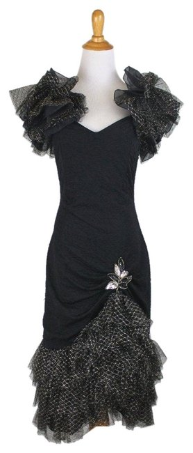 Preload https://img-static.tradesy.com/item/24148227/black-burlesque-tulle-net-lace-can-can-long-formal-dress-size-2-xs-0-1-650-650.jpg