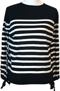 Philosophy Boat Neck Striped Longsleeve Sweater - item med img