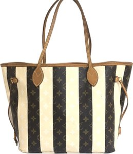 Louis Vuitton Neverfull Mm Canvas Shoulder Bag