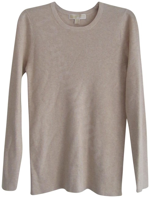 Preload https://img-static.tradesy.com/item/24148350/michael-michael-kors-oatmeal-heather-ribbed-textured-knit-top-style-no-qf56a5504a-beige-sweater-0-1-650-650.jpg