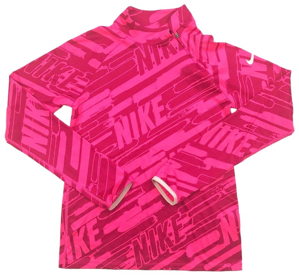 e21dd6495153 Nike Nike Pro Top Running Pullover Pink Graphic athletic Dri Fit women sz L  Image 0 ...