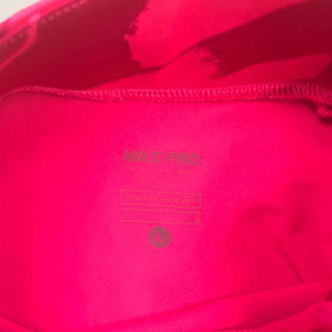 Nike Nike Pro Top Running Pullover Pink Graphic athletic Dri Fit women sz L