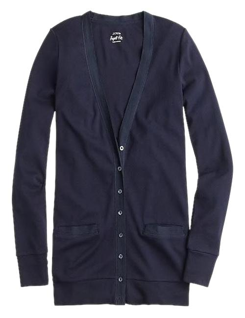 Preload https://img-static.tradesy.com/item/24148429/jcrew-navy-perfect-fit-mixed-tape-cotton-cardigan-size-6-s-0-1-650-650.jpg