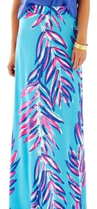 Lilly Pulitzer Maxi Skirt Blue and pink