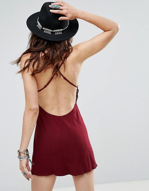 Free People short dress Wine on Tradesy